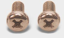 BRASS SCREWS Cheese head slotted grub screws